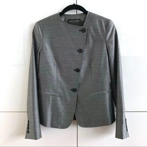🆕 NWOT Max Mara Grey Button-Over Blazer/Jacket
